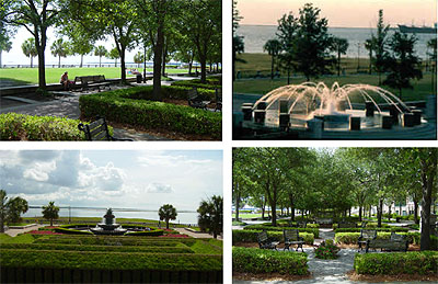 Charleston's Waterfront Park. Click to enlarge