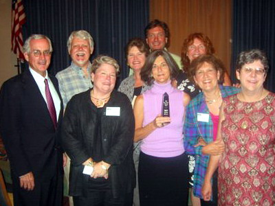 Board members and supporters